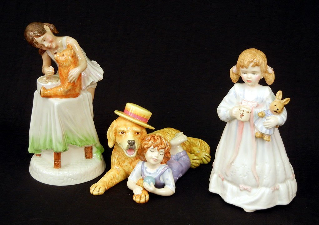 "35: Three Royal Doulton figurines ""Bunny's Bedtime"" HN"