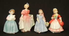 "Four Royal Doulton Figurines ""Valerie"" HN 2107, 5 1"