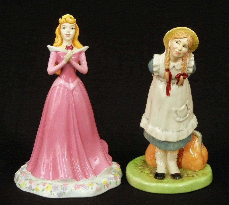 "40: Two Royal Doulton figurines ""Sleeping Beauty"" Disne"