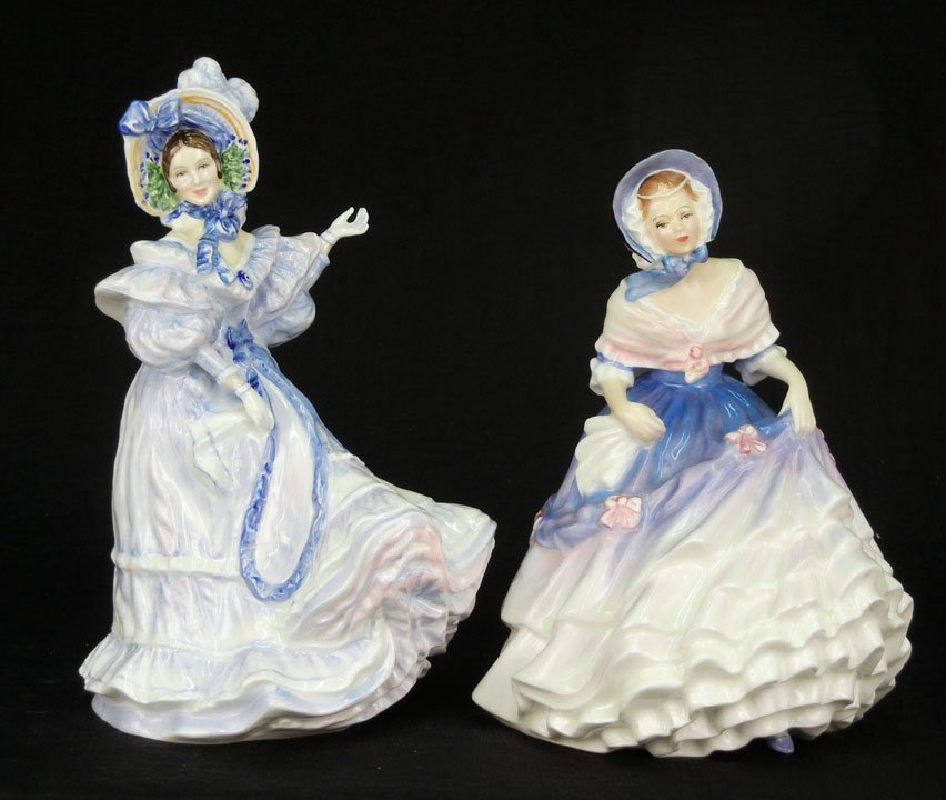 "44: Two Royal Doulton figurines ""Flowers of Love, Forge"