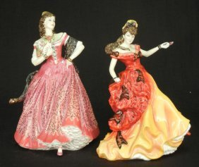 "Two Royal Doulton Figurines ""Carmen"" Opera Heroines"