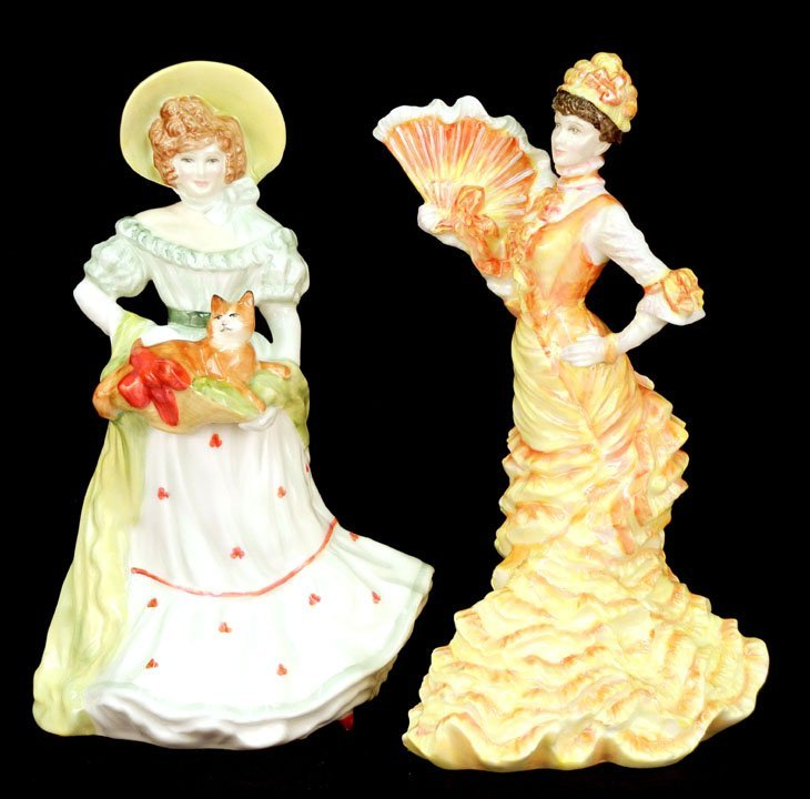 "46: Two Royal Doulton figurines ""Jane"" Lady Doulton 199"