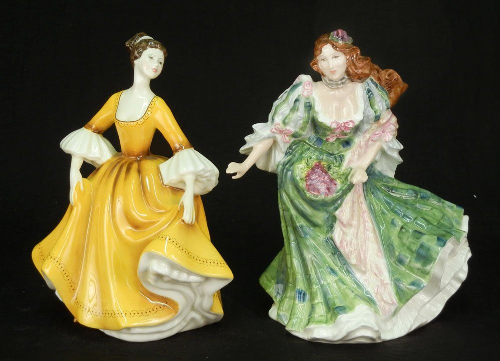 "47: Two Royal Doulton figurines ""Stephanie"" HN 2807, 7"