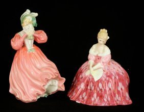 "Two Royal Doulton Figurines ""Victoria"" HN2471, 7"","