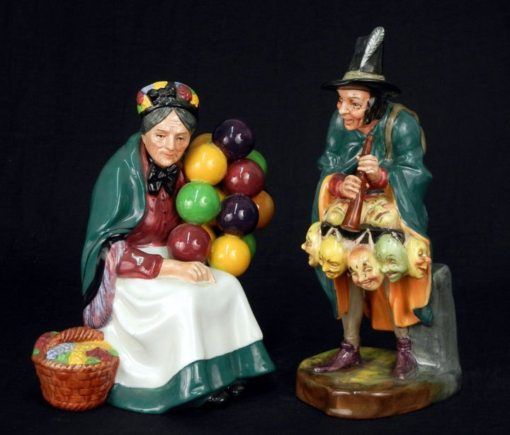 "49: Two Royal Doulton figurines ""The Old Balloon Seller"