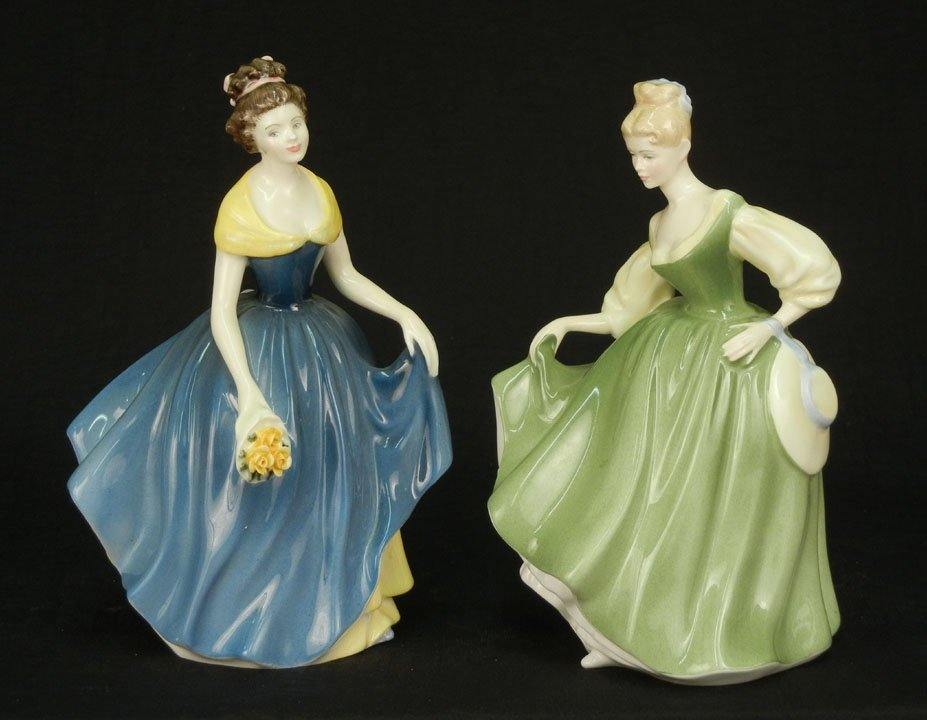 "50: Two Royal Doulton figurines ""Fair Lady"" HN 2193, 7"