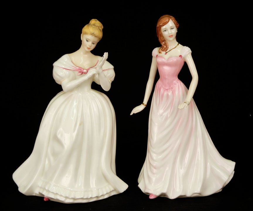 "52: Two Royal Doulton figurines ""Denise"" HN 2477, 8"", C"