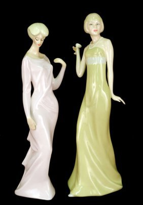 "Two Royal Doulton Figurines ""Aperitif"" HN 2998, 12"