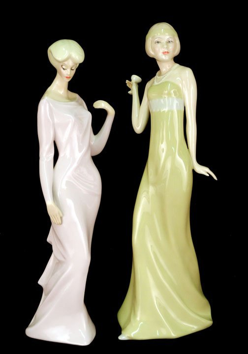 "54: Two Royal Doulton figurines ""Aperitif"" HN 2998, 12"