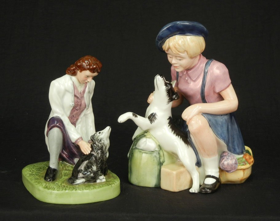 "55: Two Royal Doulton figurines ""Town Veterinary"" HN 46"