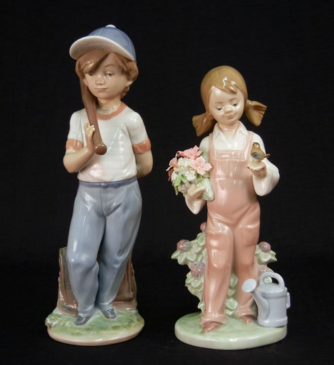 "64: Two Lladro figurines ""Can I Play?"" # 7610, 8 1/2"","