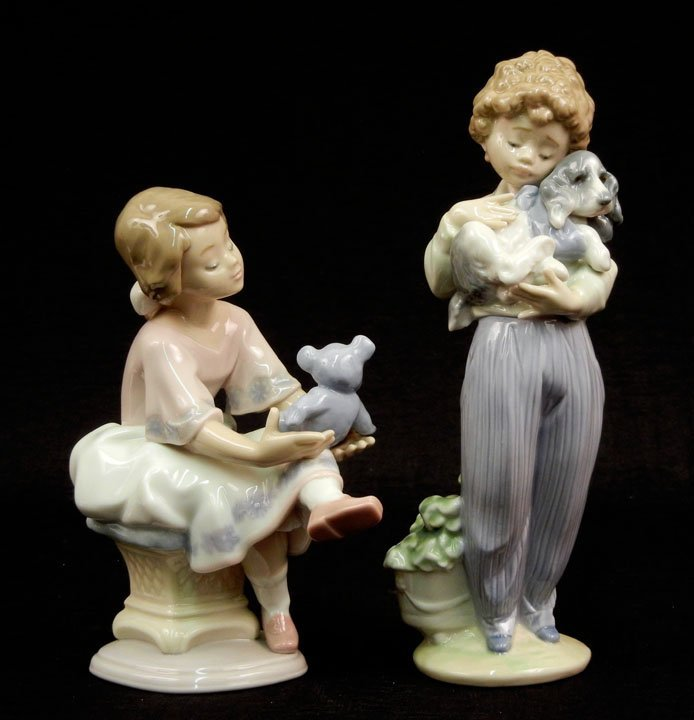 "66: Two Lladro figurines ""Best Friend"" #7620, 6 1/2"", a"