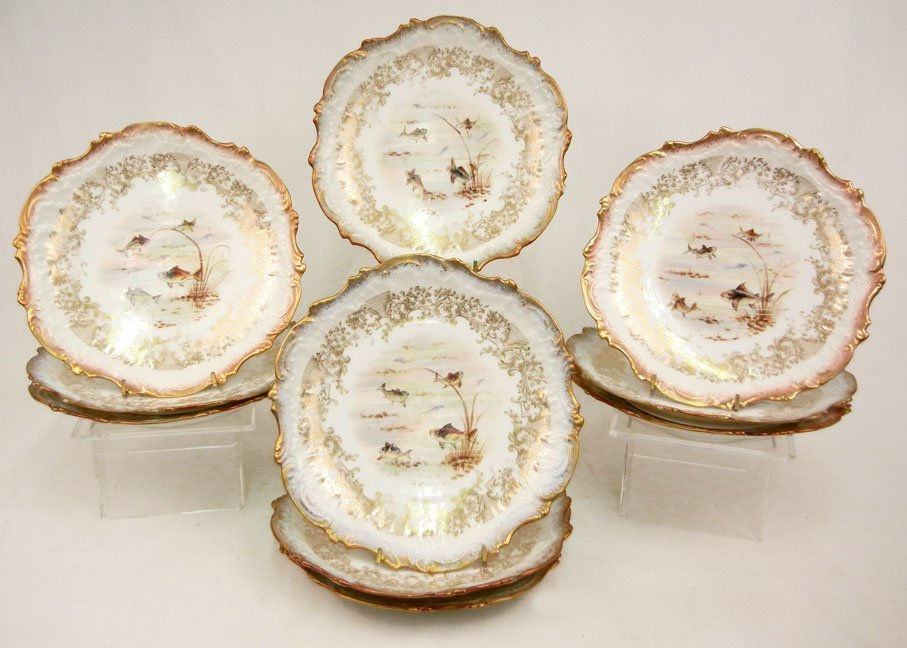 176: L.S.& S. (Lewis Straus and Sons) Limoges ten piece - 7