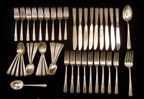 "Set Of Towle Sterling Silver Flatware ""Candlelight"