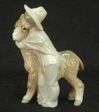 "68B: Lladro figurine ""Platero and Marcelino"""