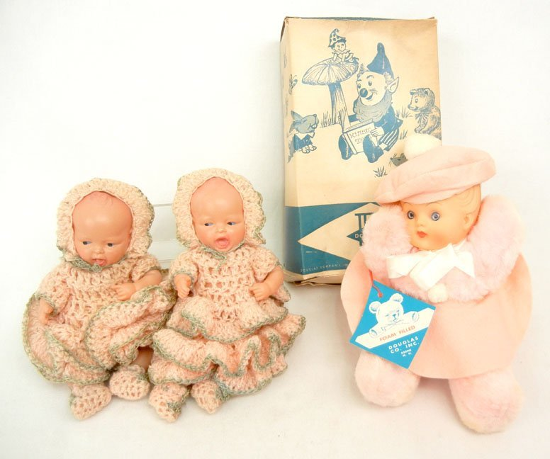 3: Grouping of three dolls, including a pair of Japan c