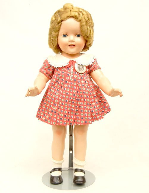 """10: Ideal composition Shirley Temple doll, 18"""", painted"""