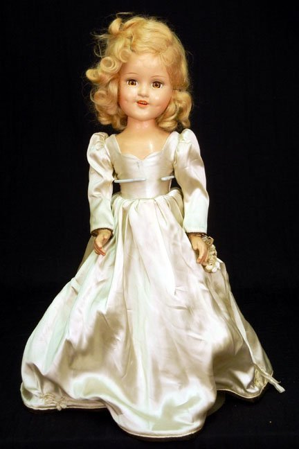 15: Composition doll, light brown sleep eyes, painted a