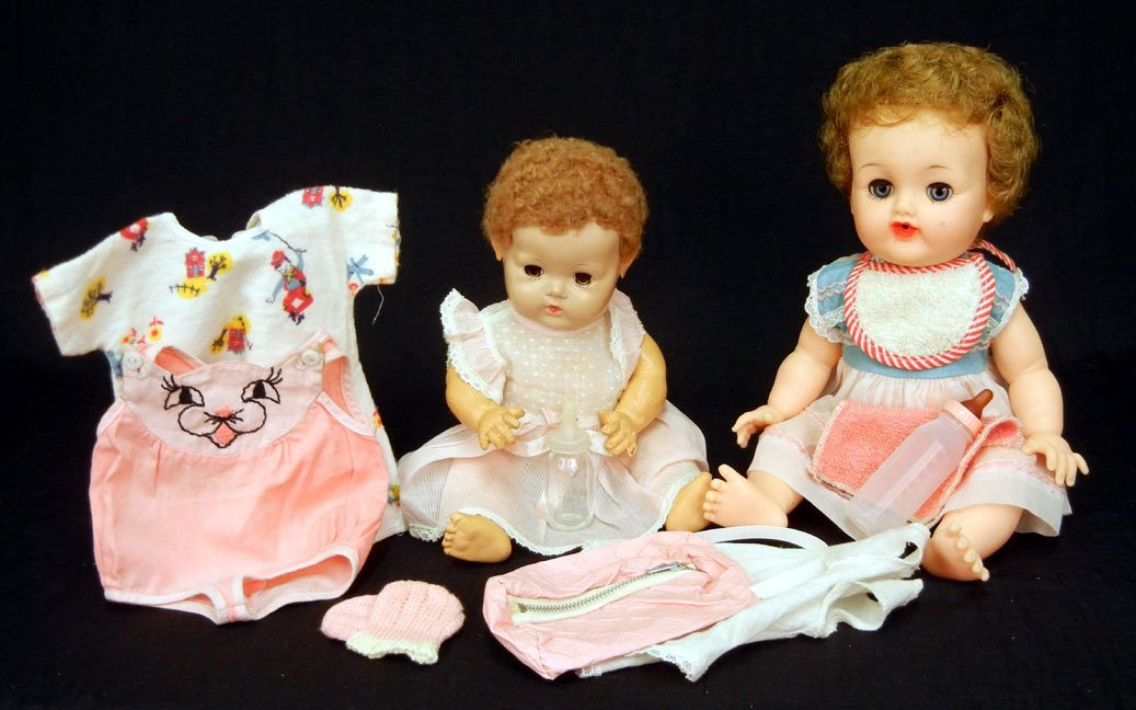 "44: 1950s rare size Dy-dee by Effanbee, 11"" and a Betsy"