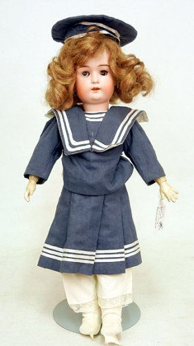 Goebel Bavaria Bisque Head Doll, Composition Body,