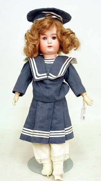 49: Goebel Bavaria bisque head doll, composition body,