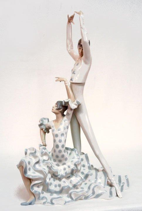 "20: Lladro ""Flamenco Dancers"" No. 4519, 20"" high"