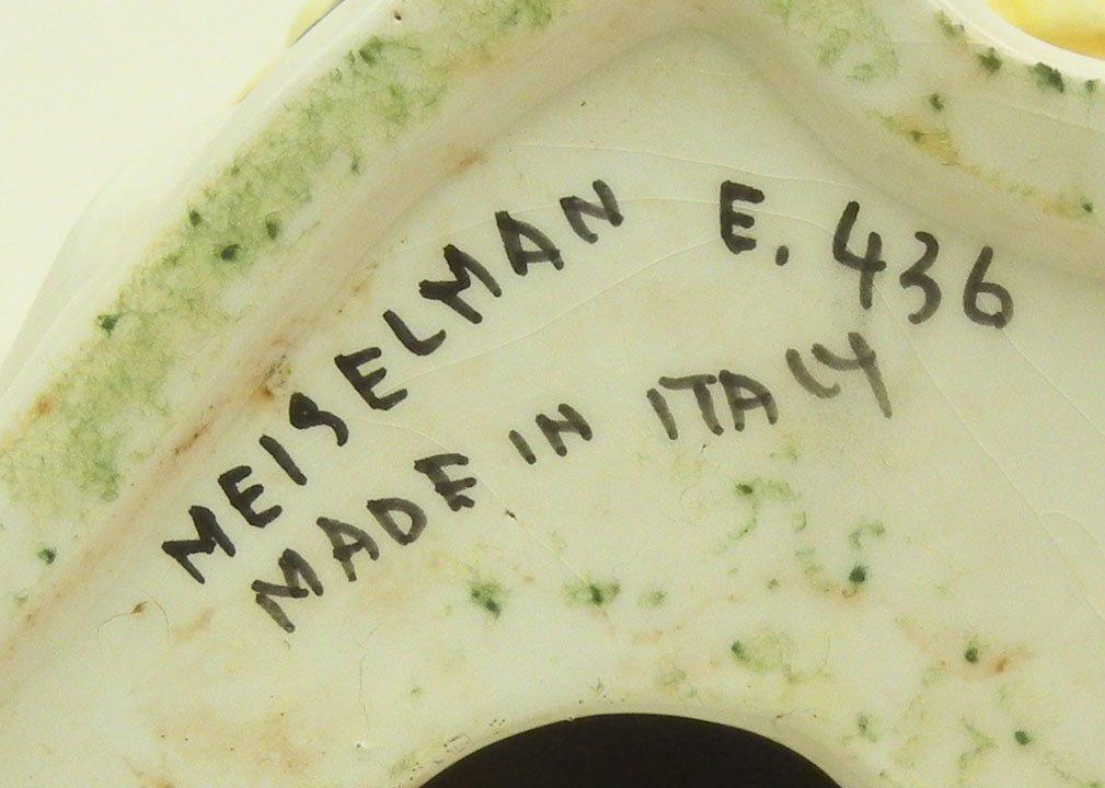 "42: Meiselman Italian pottery owl, marked on bottom ""Me - 2"