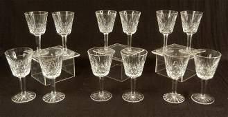 104 Twelve Waterford Lismore claret wines 5 78 hi