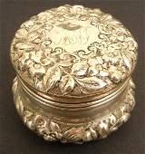153 Gorham sterling silver dresser box monogrammed r