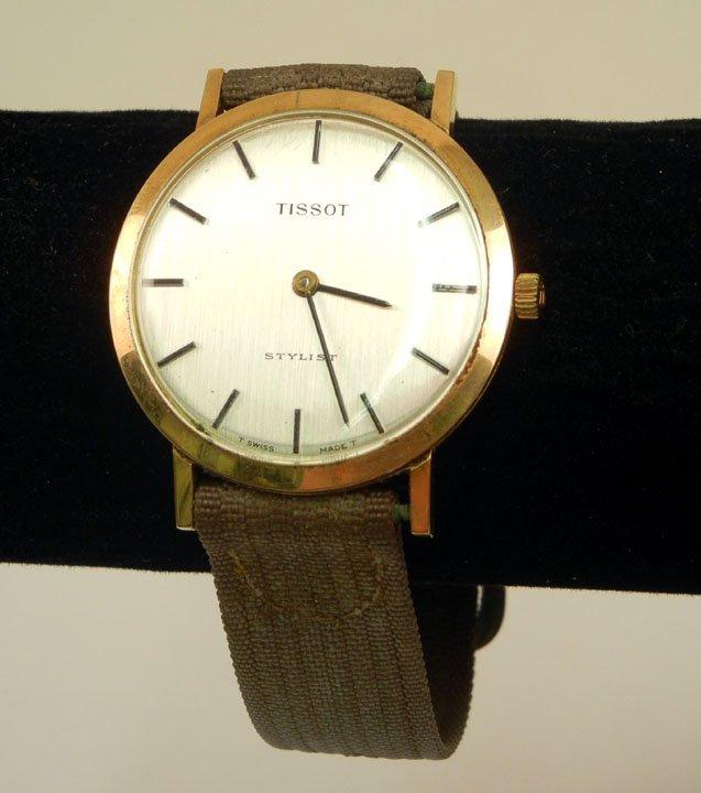 329: Tissot Stylist wristwatch, gold filled case, 1 1/4