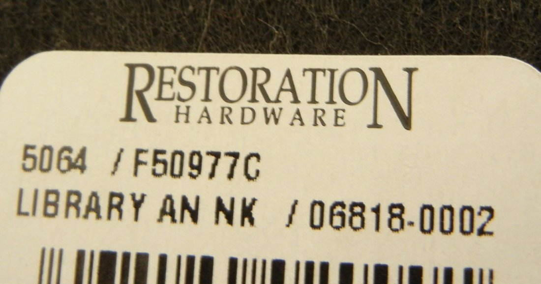 471: Pair of Restoration Hardware table lamps, brushed  - 2