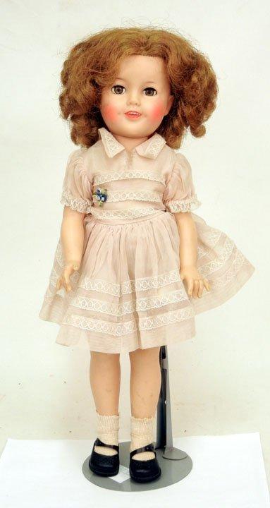 "13: Ideal vinyl Shirley Temple doll, 17"", all original,"