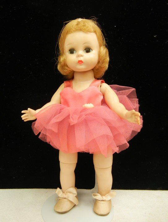 19: Madame Alexander bend knee walker Ballerina, green