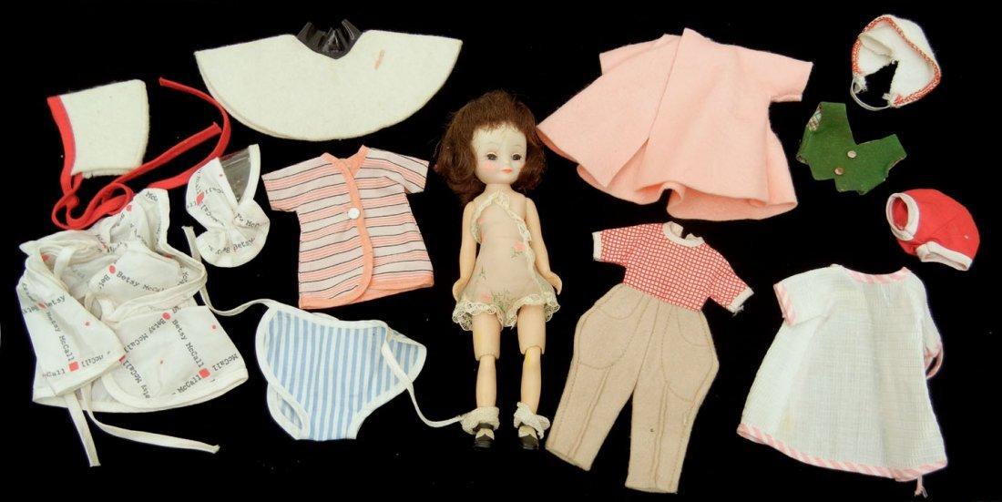 22: Betsy McCall hard plastic doll, green sleep eyes, p