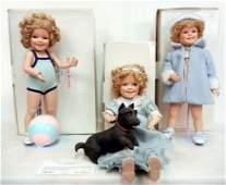 57: Three Shirley Temple Danbury Mint dolls, Toddler Do