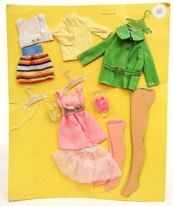 "66: Rare Francie doll clothes No. 1512 ""Pretty Power"" c"