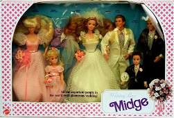 "67: Mattel ""Wedding Party"" Midge gift set in original u"