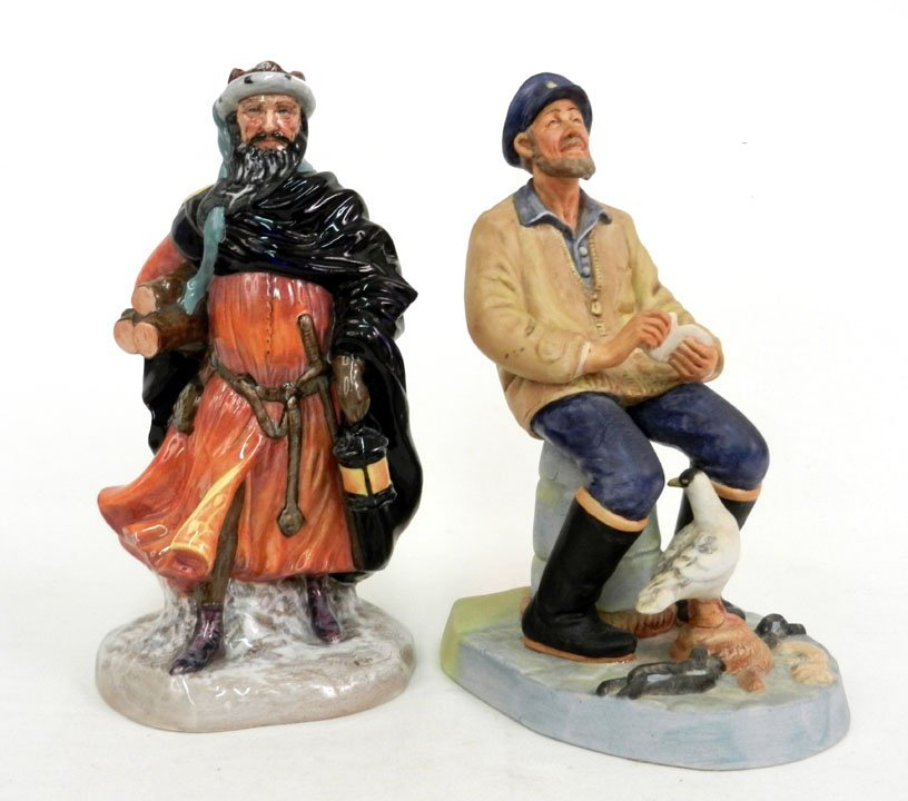 "7: Two Royal Doulton figurines, including ""Good King We"
