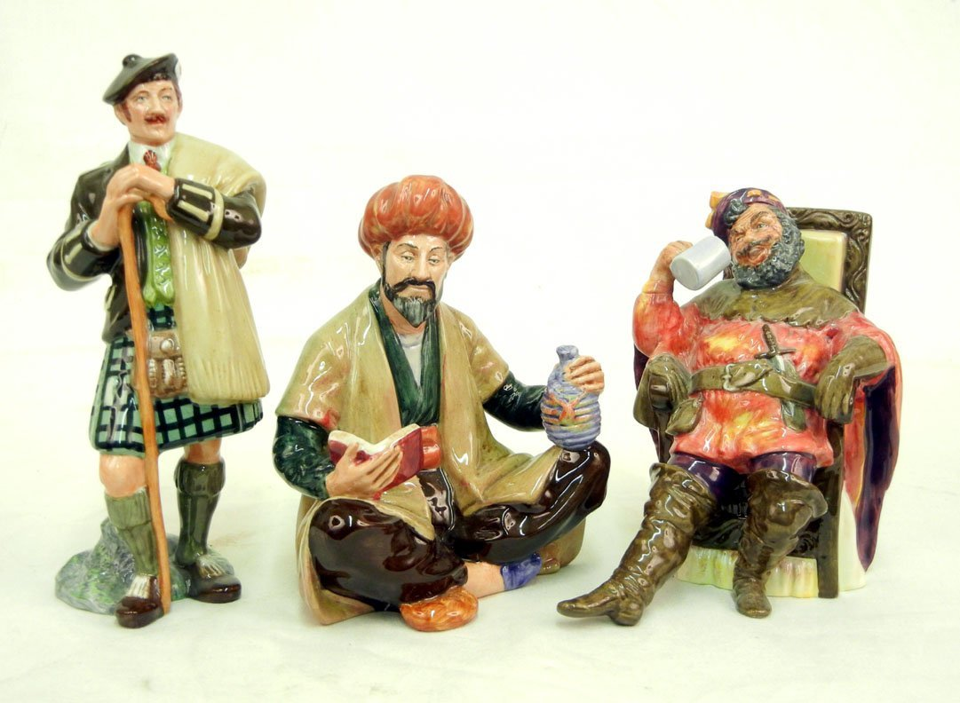 "9: Three Royal Doulton figurines, including ""The Laird"""