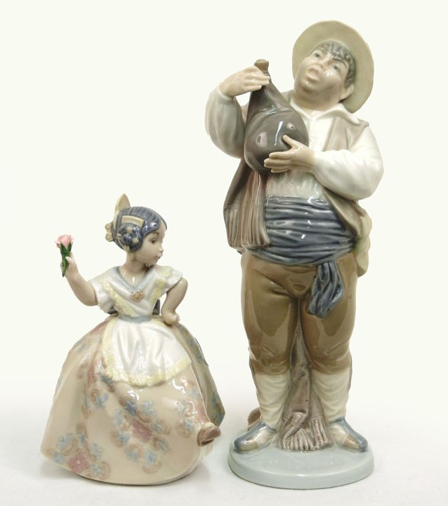 "22: Two Lladro figurines, ""A Toast by Sancho"", No. 5165"