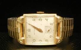 200 Mans Wittnauer 14K gold cased wristwatch 17 jewe