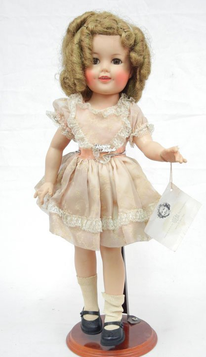 "Ideal Shirley Temple doll, 17 1/2"", vinyl, all original"