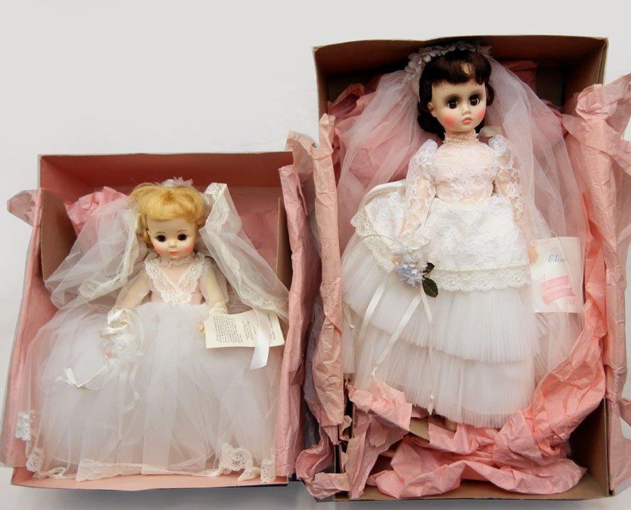 "Two Madame Alexander dolls in original boxes, ""Bride"" 1"