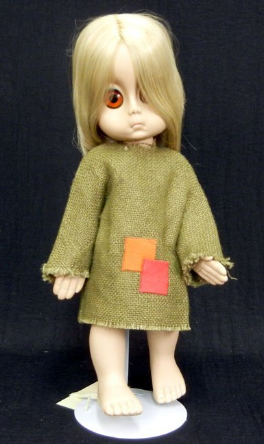 "Hasbro Little Miss No Name doll, all original, 15"", bur"