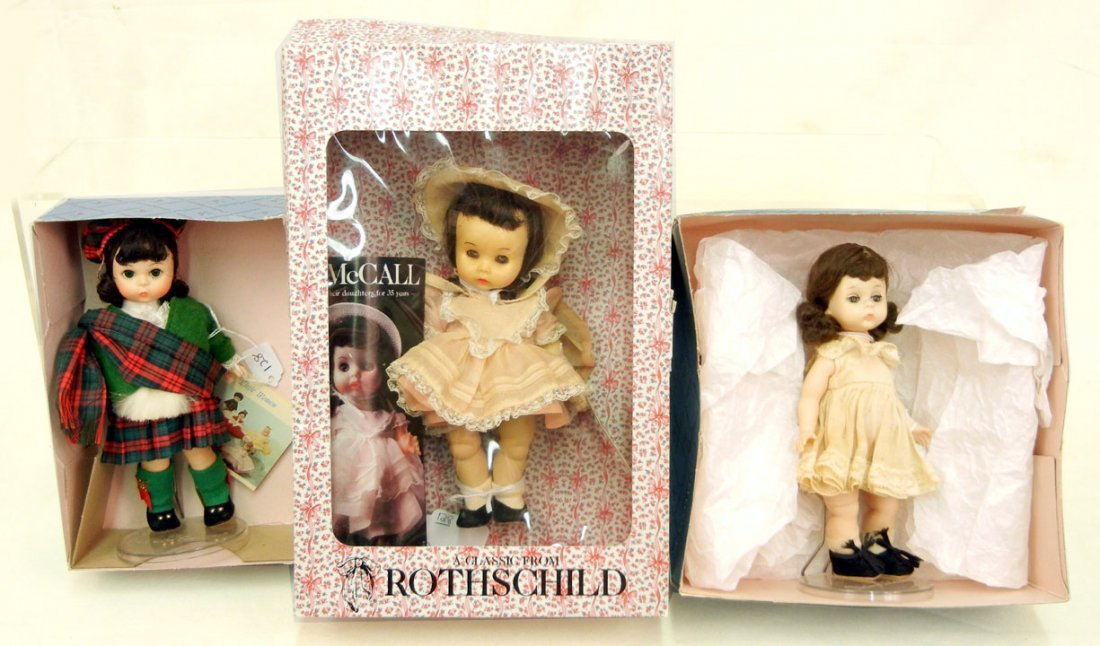 Rothschild Betsy McCall doll and two Madame Alexander d