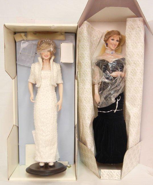 Franklin Mint Diana Princess of Wales doll, mint in box
