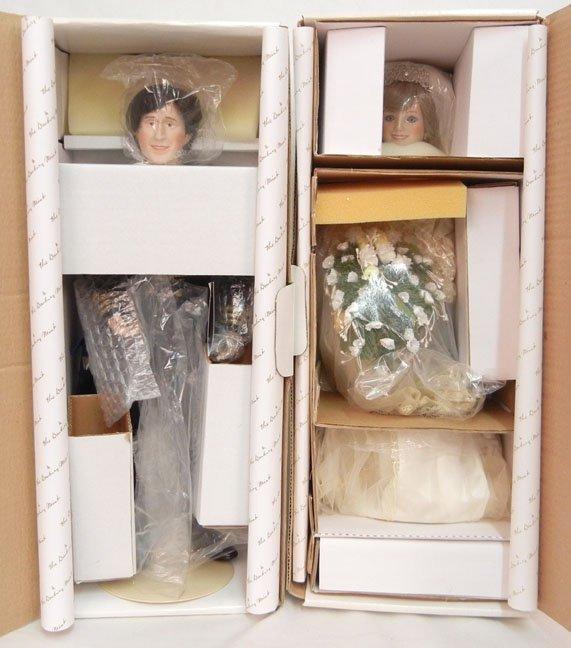 Danbury Mint Princess Diana and Prince Charles bride an