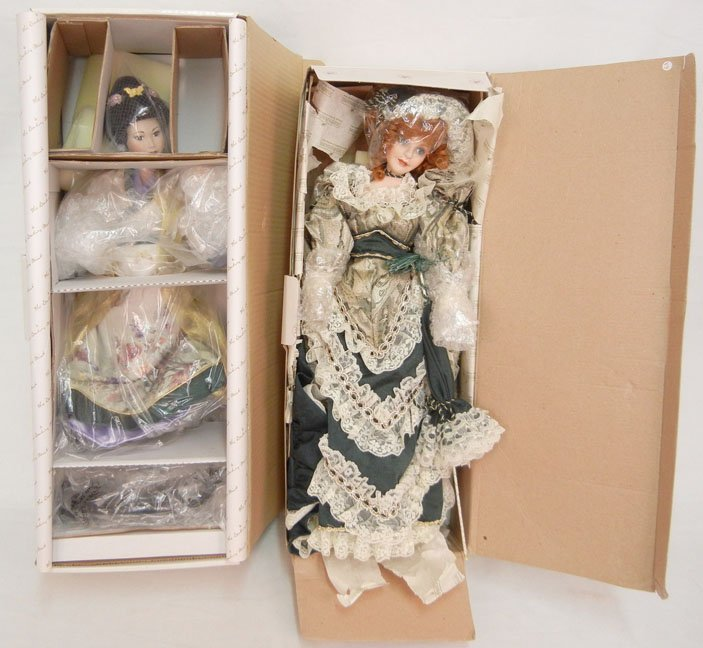 """Danbury Mint """"The Butterfly Maiden"""" doll, new in box; a"""