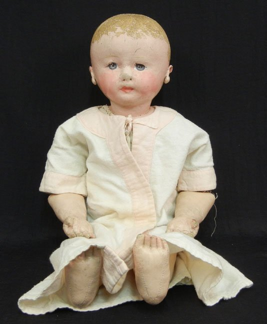 Antique Martha Chase doll, stockinette doll, unmarked,