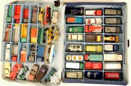 """""""Matchbox"""" series collectors case by Lesney, with forty"""